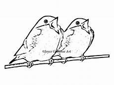 Vogel Malvorlagen Jepang Digital St Clip Singing Birds On A Branch Freehand
