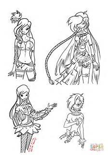 disegno di le ragazze winx da colorare disegni da