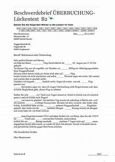 beschwerdebrief 220 berbuchung mit l 246 sungen arbeitsblatt