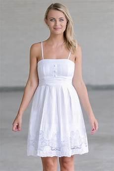 white a line sundress cute white dress summer dress lily boutique