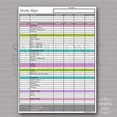 Monthly Household Budget Worksheet Printable  Free