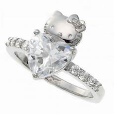 hello swarovski heart engagement wedding ring made in japan