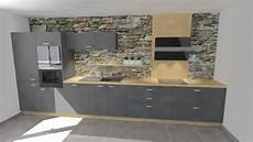 cuisine cuisine grise am 195 169 nag 195 169 e en i avec plan de