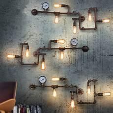 vintage loft wroguht iron water pipe wall ls retro industrial wall lights bar restaurant wall