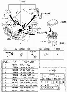 2013 hyundai genesis wiring harness diagram hyundai genesis coupe terminal battery tcimpi 919812m000 jim ellis hyundai parts