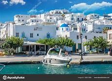 parois de naousa town paros island greece july 2017