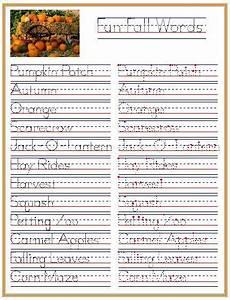 riggs handwriting worksheets 21556 fall words pumpkin patch inspired handwriting practice education help handwriting