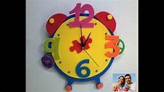 reloj de fomix como hacer un reloj de fomix mis cositas en goma reloj en foami con mecanismo paso a paso foami clock step by step youtube