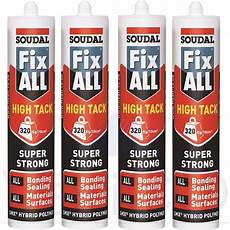 4x soudal fix all high tack strong adhesive
