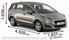 dimensions peugeot 5008 dimensions of peugeot cars showing length width and height