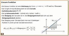 Steigung Gerade Berechnen - lineare funktionen erkl 228 rung steigungsdreieck y