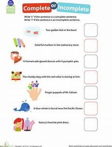 writing complete sentences worksheets middle school 22204 get into grammar complete or incomplete worksheet education