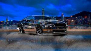 Ford Mustang Shelby Muscle Crystal City Night Smoke Fog