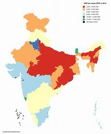 10 different states of india gdp per capita of indian states in 2014 ppp 3818x4600