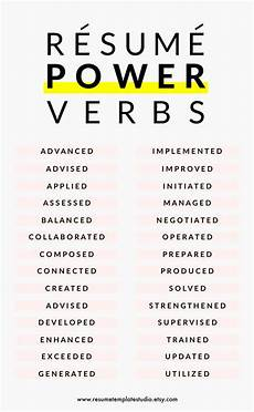 resume power verbs exles pinterest the world s catalog of ideas