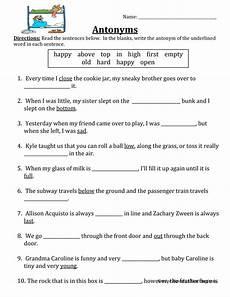 antonym worksheet have fun teaching