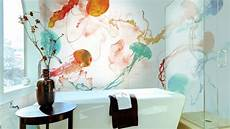 Tapeten Für Bad - deko ideen badezimmer tapete waschbares vinyl als