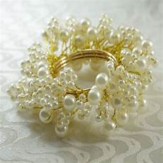 qn16031601 napkin ring pearl beaedes decoration wholesale