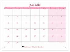 Kalender 2018 Juli - kalenders om af te drukken juli 2018 belgi 235