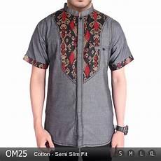 jual baju koko stylish pria muslim modern koko batik om25 di lapak abu bakar sidik