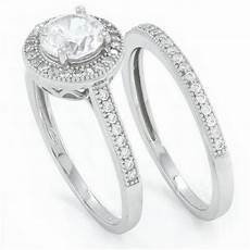 sterling silver diamond wedding rings 925 sterling silver cut simulated diamond
