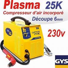 decoupeur plasma gys d 233 coupeur plasma cutter 25k