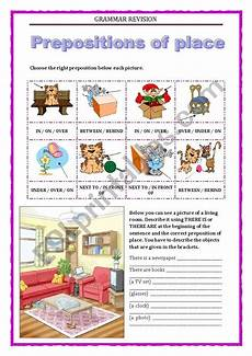 grammar worksheet there is there are with prepositions 25093 grammar revision 5 prepositions of place there is there are esl worksheet by keyeyti