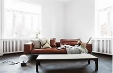 Braunes Sofa Kombinieren - cognacfarbenes ledersofa bilder ideen