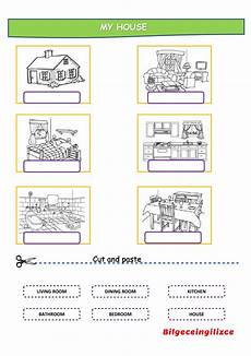 my house with drag and drop interactive worksheet