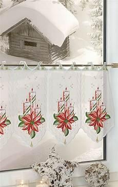 weihnachts scheibengardinen scheibengardine aus plauener spitze adventskerzen mit