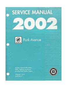 free auto repair manuals 2001 buick park avenue head up display 2002 buick park avenue factory service manual 2 volume set