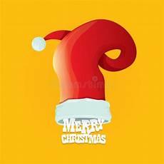 santa hat vector merry christmas card stock vector illustration of illustration