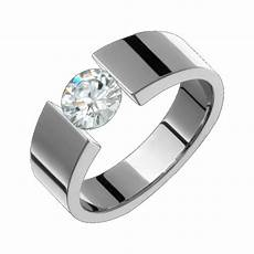 6mm titanium cubic zirconium ring tension set wedding band polished size 4 to 14 ebay