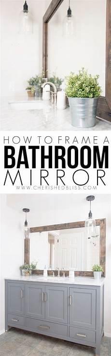 do it yourself bathroom ideas diy bathroom decor ideas wood framed bathroom mirror tutorial cool do it yourself bath ideas