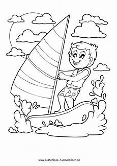 ausmalbilder ausmalbild junge segelt