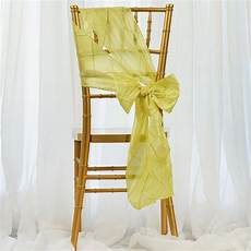 100 pintuck chair sashes bows ties for wedding party