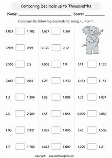 comparing and ordering decimals worksheets grade 4 7430 printable primary math worksheet for math grades 1 to 6 based on the singapore math curriculum
