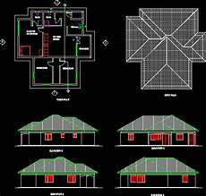 dwg house plans a three bedroomed simple house dwg plan for autocad