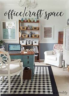 office and craft space reveal home office craft room