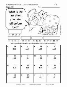riddles worksheets for grade 2 10872 add and subtract to 100 silly riddles grade 2 math worksheets