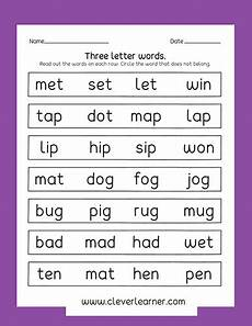 3 letter word worksheets for kindergarten 23550 three letter words writing activity worksheets for preschools preschool elearning