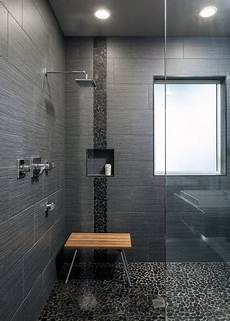 Black Tile Bathroom Ideas Top 50 Best Shower Floor Tile Ideas Bathroom Flooring
