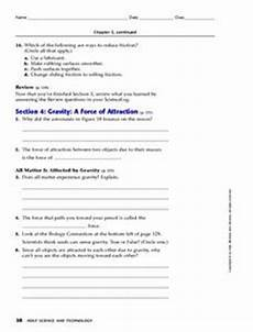 gravity a of attraction 9th 12th grade worksheet