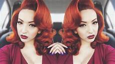 hair pin up on a pin up glam voluminous hair tutorial