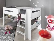 hauteur de lit lit modulable mi hauteur blanc 90x200cm