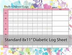 diabetic glucose log sheet printable pdf