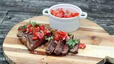 tomaten salsa pico de gallo als beilage zum ribeye steak
