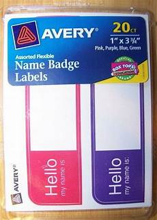 avery name badge labels quot hello my name is quot ebay