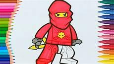 레고 닌자 고 빨간 닌자 카이 작은 손 페이지 색칠하기
