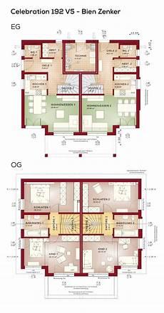 Grundriss Zweifamilienhaus Architektur Modern Mit